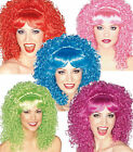 Curly Wig adult female show girl clown theatrical costume long tight curl Rubies