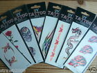 Temporary UV Tattoos ~ Tribal ~ Ethnic ~ Dragon ~ Butterfly ~ Heart ~ Skull