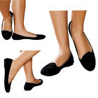 LADIES FAUX SUEDE LEATHER SLIPPERS LOAFERS BALLET PUMPS SHOES