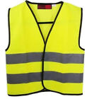 Childrens Yellow Hi Vis Vest High Visibilty Waistcoat - School Walking Cycling