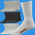 MEN'S WOLVERINE WORK SOCKS 4 Pairs COTTON CREW SOCK W91102670-100 White