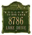 NEW WHITEHALLP RODUCTS CUSTOM FISHERBOY WELCOME TO LAKE ADDRESS PLAQUE
