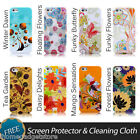 New TPU Flower Soft Case Cover Fits iPhone5 + FREE Screen Protector & CLOTH