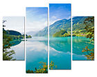Peaceful Lake Modern Wall Art On Top Canvas Print Choice Of Clock Multiple Szs