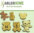 Wholesale 800/2000pcs Sewing Wood Vintage Buttons 6Options Teddy bear Cardmaking