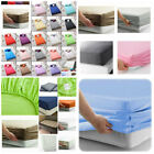 Fitted Sheet 25cm 100% Poly Cotton Single Double King Super king Size Bed Sheets