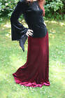 STRETCH VELVET SKIRT LONG Wedding/Festivals/Goth/Pagan/LARP/ Rowans Closet