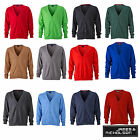 James & Nicholson Mens V-Neck Cardigan Herren Strickjacke JN661