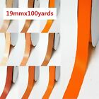 "Double Sided Satin Ribbon 3/4"" / 19mm Wholesale 100 Yards,Yellow-Orange for Bow"