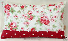 Cath Kidston Rosali Floral White Dotty Bolster cushion cover with concealed zip