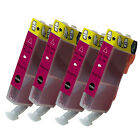 4 Non-OEM For Use in Canon CLI-8M Magenta Ink Cartridges