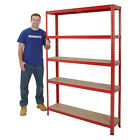 Boltless Garage Shelving Steel Storage 5 Shelf Racking System 1780mm High BiGDUG