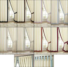 CLAREMONT SATIN LINED TAB TOP/ PENCIL PLEAT TAPE TOP CURTAINS IN VARIOUS COLOURS