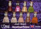 L'OREAL JET SET RARE Nail Polish Varnish red pink white burgundy gold lime green