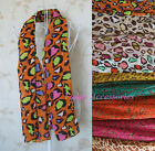 Women Soft Neon Candy Color Leopard Chiffon Voile Scarf Shawl Wrap Ribbon