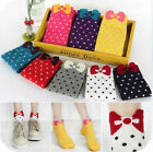 Cute bow candy-colored the boat socks socks cotton socks