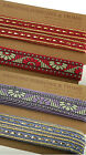 Lavender Purple & Cerise Pink Gold Indian Ribbon Mix, 2 Style Combo By The Meter