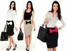 ☼ Classic Pencil Women's Skirt with Bow ☼ Elegance High Waist Sizes 8-16 FA116