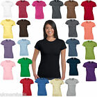 12 x Gildan SoftStyle™ Ladies Fitted Ringspun T-Shirts - 25 Colours  Sizes 8 -18
