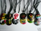 Boys/Girls Resin Necklace Pendant Adjustable Ganja Bob Marley Peace Fun & Funky