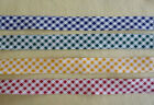 4 metres Gingham check Bias Binding shabby chic 25mm wide cotton