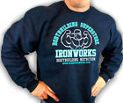 NAVY TEAM IRONWORKS BODYBUILDING CLOTHING SWEATSHIRT WORKOUT FITNESS  D-29