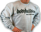 BODYBUILDING CLOTHING SWEATSHIRT WORKOUT  TOP GREY IRON & PAIN LOGO D-25