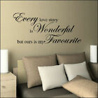 Large Bedroom Wall Quote  Every Love Story Ours Favourite Sticker  Decal Vinyl