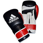 NEW ADIDAS MEN'S HI TECH VELCRO BOXING LEATHER PUNCH GLOVES BLACK,WHITE,RED