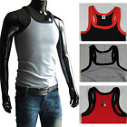 New Muscle Mens Pure Cotton Tank Top Sleeveless Shirts Vest in 3 Size US S M L
