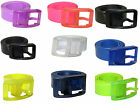 New Mens Womens Silicone Rubber Jelly Vinyl Plastic Buckle Adjustable Color Belt