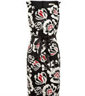 NEW  HOUSE OF FRASER PRECIS PETITE FLORAL SATEEN DRESS    RRP £99.00