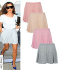 NEW LADIES WOMENS PULL ON JERSEY SKATER FLIPPY SKIRT CORAL SPECKLE SIZE 6-18
