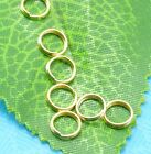 6mm 7mm 8mm golden plated Double Loop split Jump Rings Jewelry findings