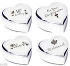 Heart Shaped Trinket Box Choice of 23 Occasions Birthday Wedding Gift