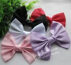 10/50pcs Big Satin Ribbon Bows Wedding Appliques Sewing Handband Ornament E07