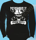 Rockabilly Psychobilly Punk Mens Long Sleeve T-Shirt Psychobilly From Hell 50's
