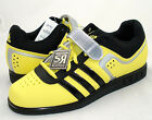 New adidas POWERLIFT 2.0 Weightlifting Mens Shoes Yellow Black Weight Lifting