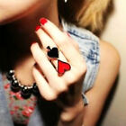 Hot Enamel Playing Card Design Adjusted Finger Ring 4Style To Choose