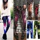 Punk Galaxy Stars Space Tie Dye Print Leggings Tights Pants P008