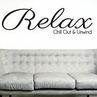 RELAX, LARGE WALL STICKER, Chill Out, Calm, Unwind, Decal, WallArt, SS457