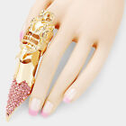 Women's 80's Versatile Stone Filled Knuckle Stretch Finger Ring Halloween HR1131