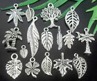 Wholesale lots Tibetan Silver Leaves Charms Lead-Free Optional