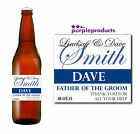 PERSONALISED FATHER OF THE GROOM THANK YOU, CHAMPAGNE, BEER / CIDER BOTTLE LABEL