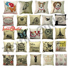 VINTAGE RETRO SOFT SOFA CHAIR BED HOME DECOR PILLOW CASE CUSHION COVER