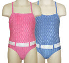 Baby Girls Polka Dot Swimsuit Pink  Blue Ages 9-12 Months or 12-18 Months New