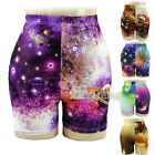 Women's Starry Sky The Universe Short Pants Tights Legging Trousers Fashion K0E1