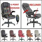 Luxury Reclining & Massage Office Chair Executive Computer Leather Swivel Chairs