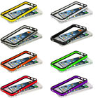 For iPhone 5 5G 5th TPU Bumper Color Rubber Skin Case Cover with Metal Buttons