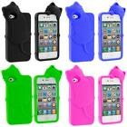 For iPhone 4 4S 4G Accessory Cat Kitty Color Silicone Skin Soft Case Cover